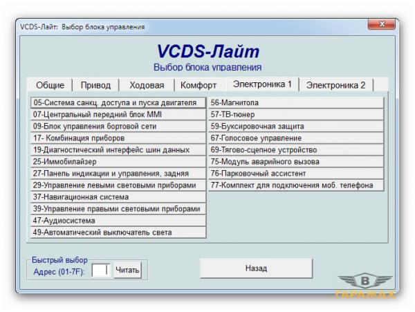 Программа для диагностики автомобилей группы vag (volkswagen, audi, seat, skoda)